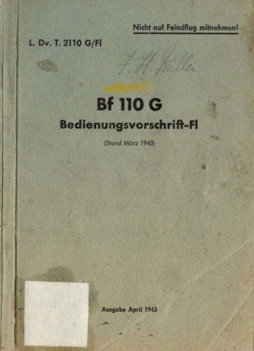 Flight Manual for the Messerschmitt Me110