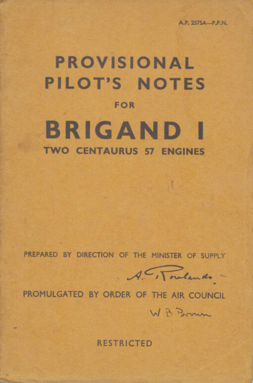 Flight Manual for the Bristol 166 Buckmaster