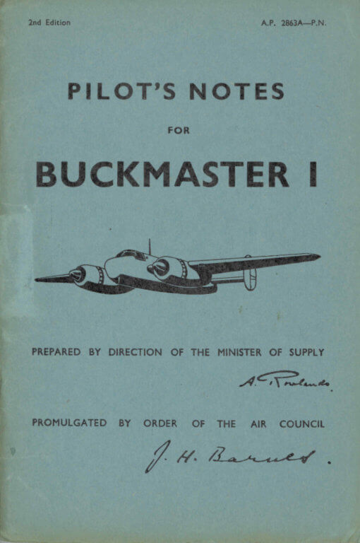 Flight Manual for the Bristol 164 Brigand