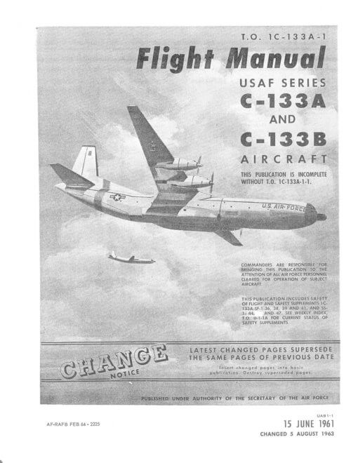 Flight Manual for the Douglas C-133 Cargomaster