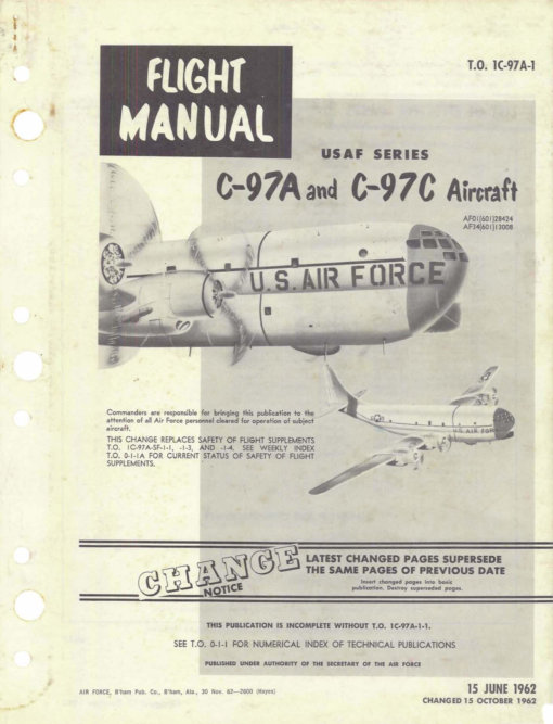 Flight Manual for the Boeing 377 Stratofreighter
