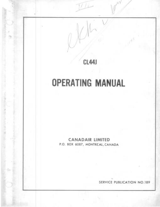 Flight Manual for the Canadair CC-106 Yukon