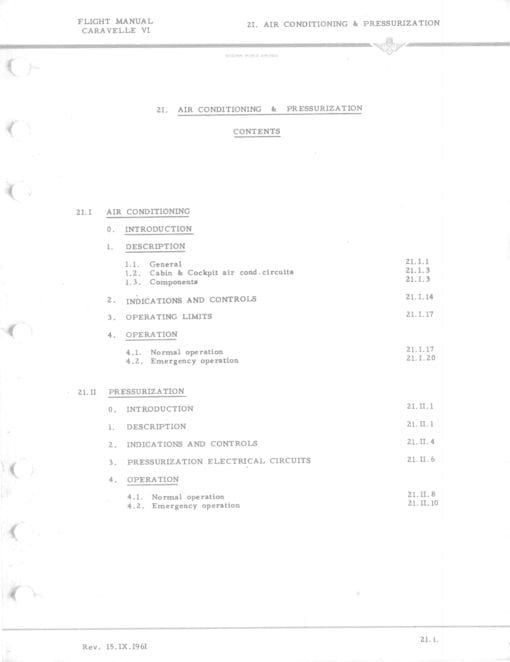 Flight Manual for the Sud Aviation Caravelle
