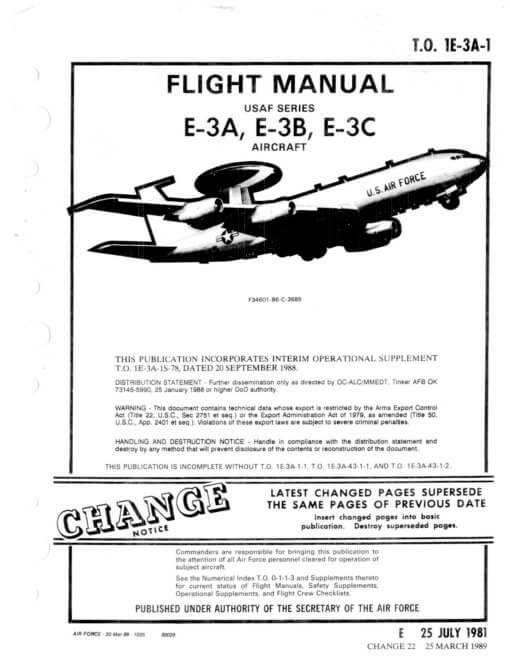 Flight Manual for the Boeing E-3 Sentry