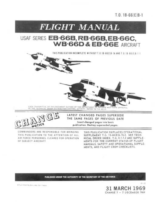 Flight Manual for the Douglas B-66 Destroyer