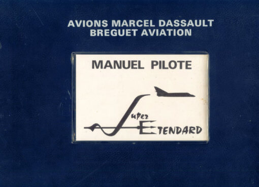 Flight Manual for the Dassault Etendard