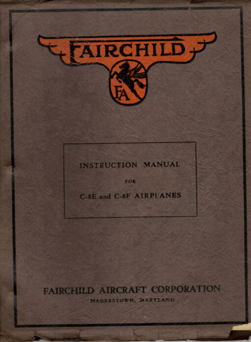Flight Manual for the Fairchild UC-61 F-24 Argus