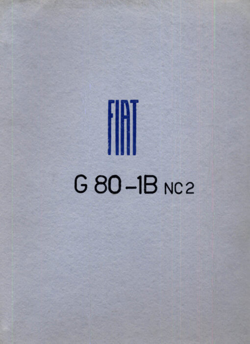 Flight Manual for the Fiat G80