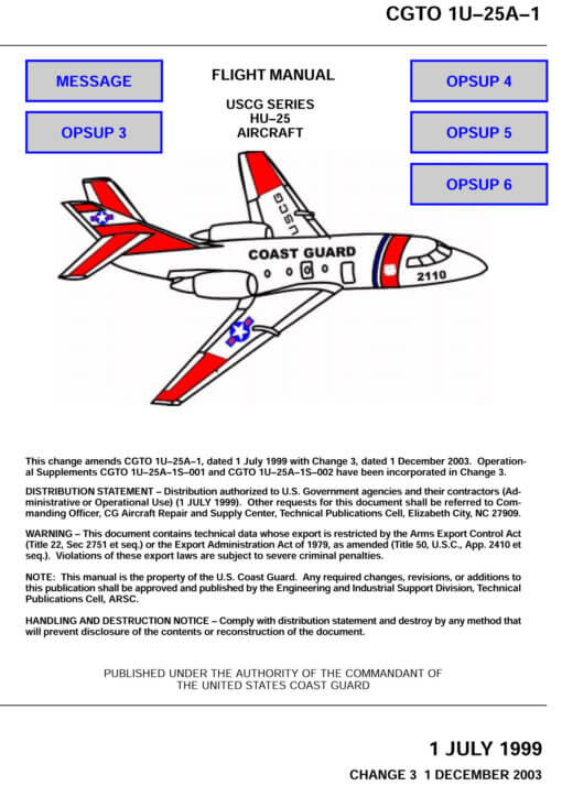 Flight Manual for the Dassault HU-25 Guardian