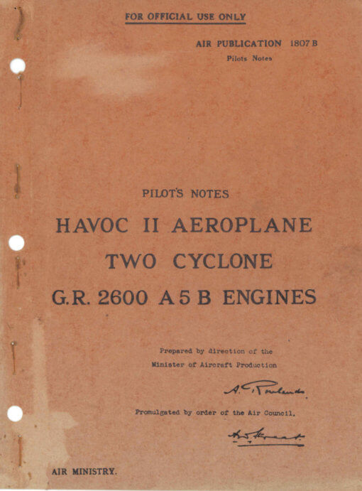 Flight Manual for the Douglas A-20 Havoc