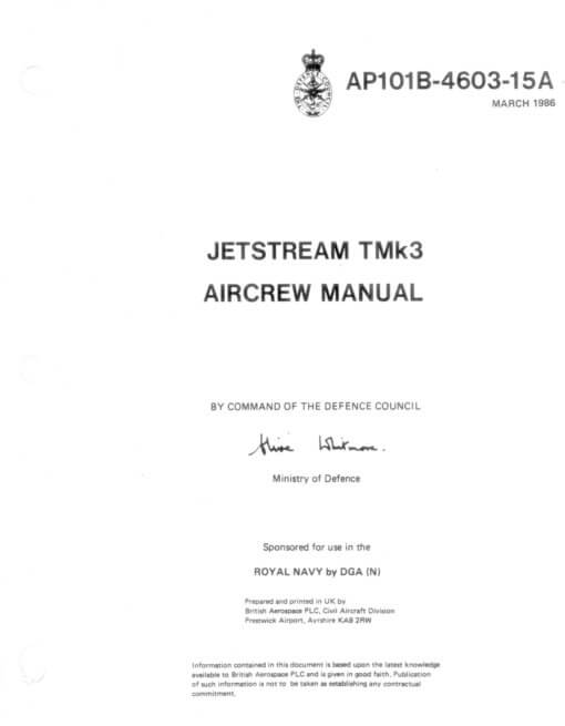 Flight Manual for the British Aerospace Jetstream 31