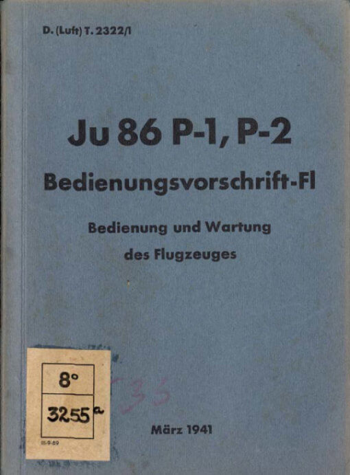 Flight Manual for the Junkers Ju86