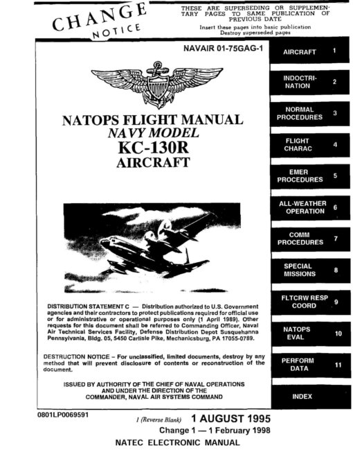 Flight Manual for the Lockheed C-130 Hercules
