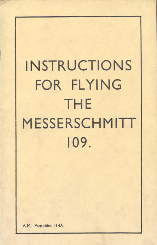 Flight Manual for the Junkers JU88