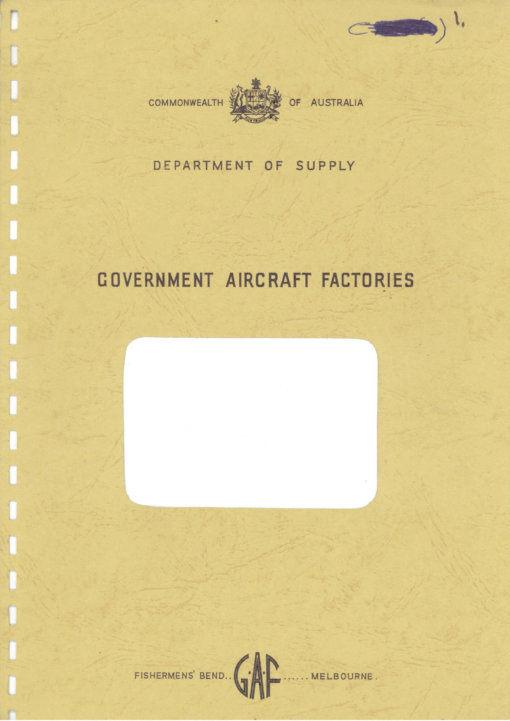 Flight Manual for the Government Aircraft Factories N24 Nomad