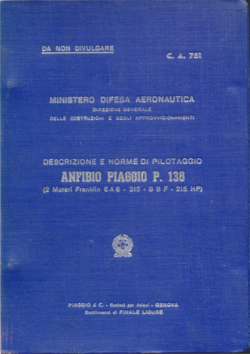 Flight Manual for the Piaggio P136