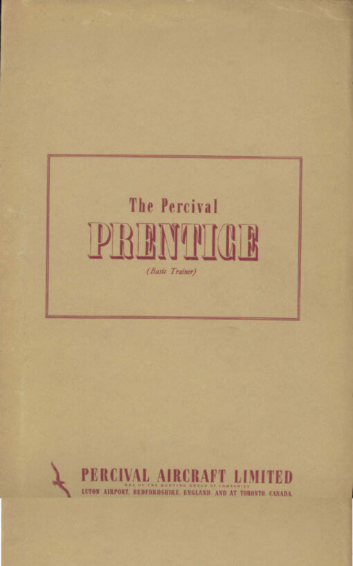 Flight Manual for the Percival Prentice