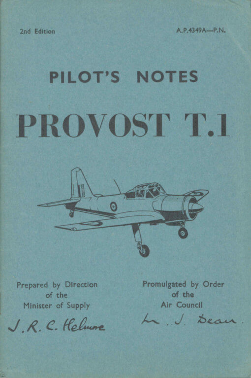 Flight Manual for the Percival Provost