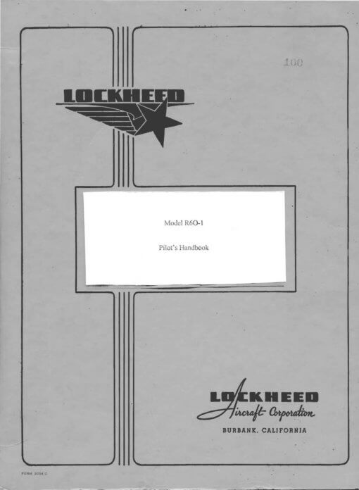 Flight Manual for the Lockheed R6O Constitution