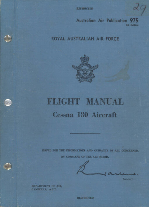 Flight Manual for the Cessna 180 and 185