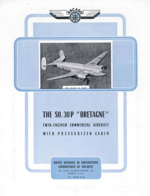 Flight Manual for the Sud Ouest SO-30 Bretagne