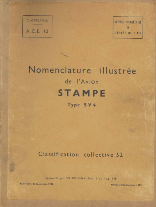 Flight Manual for the Stampe SV4