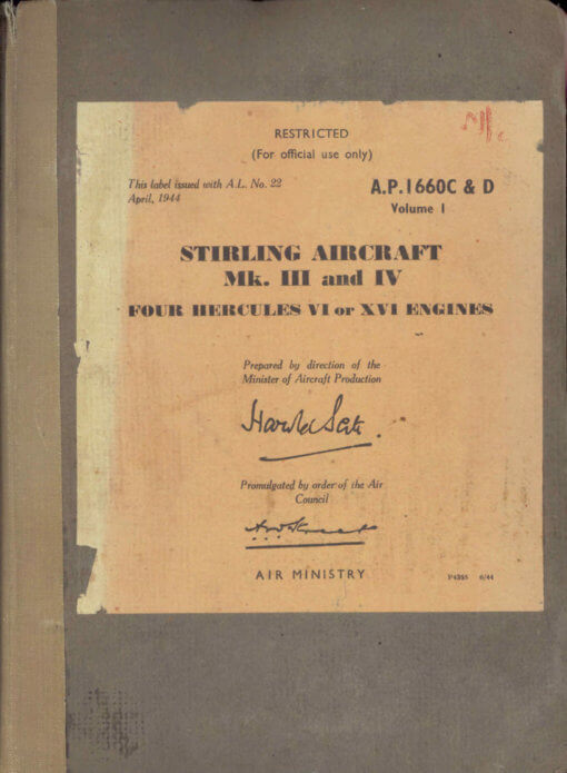 Flight Manual for the Short S29 Stirling