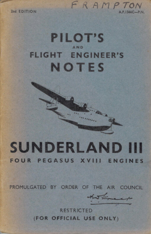 Flight Manual for the Short Sunderland