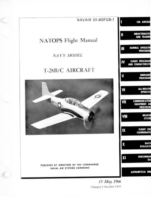 Flight Manual for the North American T-28 Trojan