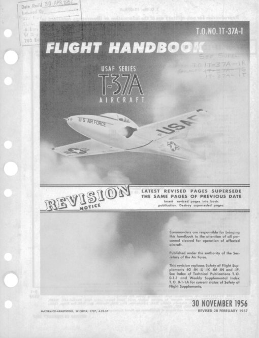 Flight Manual for the Cessna T-37