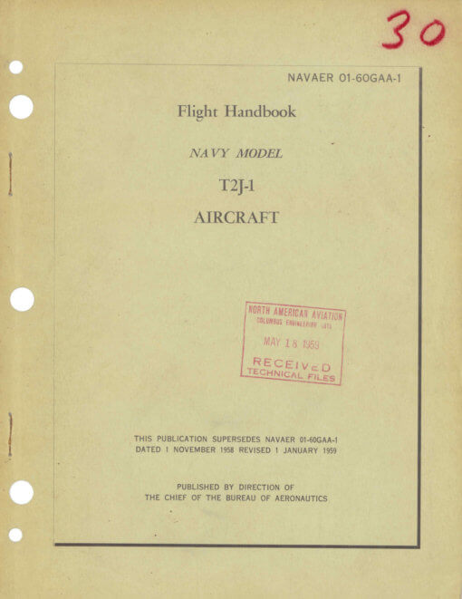 Flight Manual for the North American T-2 Buckeye