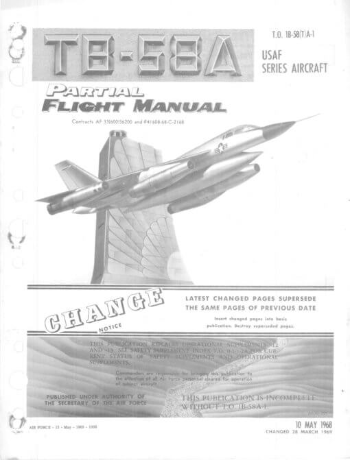 Flight Manual for the Convair B-58 Hustler