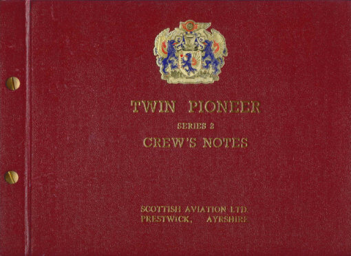 Flight Manual for the Scottish Aviation Twin Pioneer