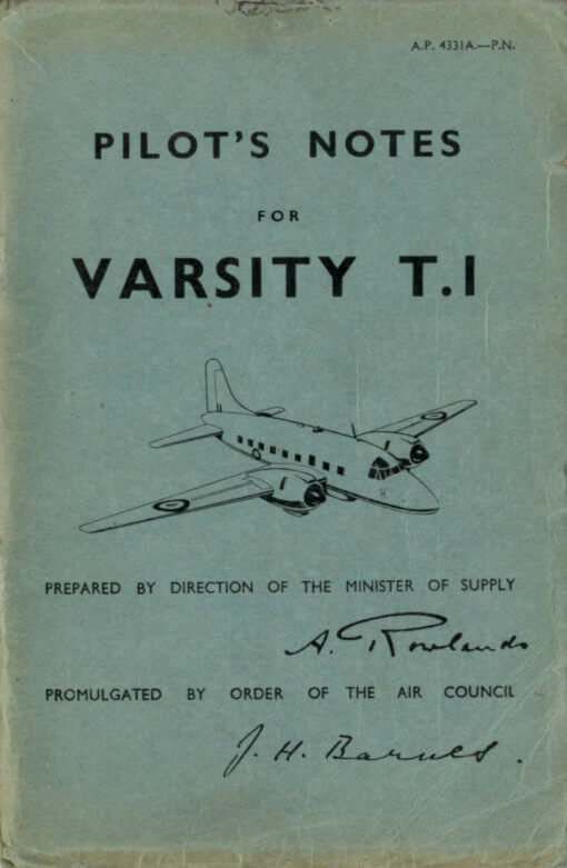 Flight Manual for the Vickers Varsity