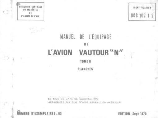 Flight Manual for the Sud Aviation SO4050 Vautour