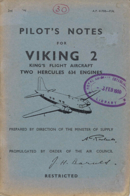 Flight Manual for the Vickers Viking