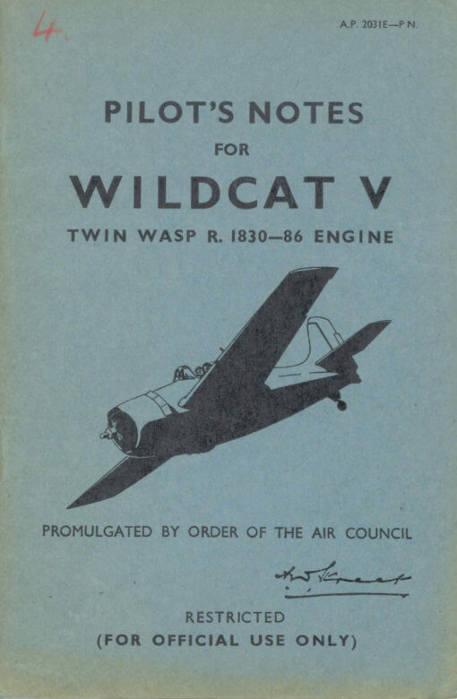 Flight Manual for the Grumman F4F Wildcat