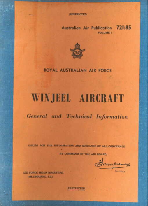 Flight Manual for the Commonwealth Winjeel