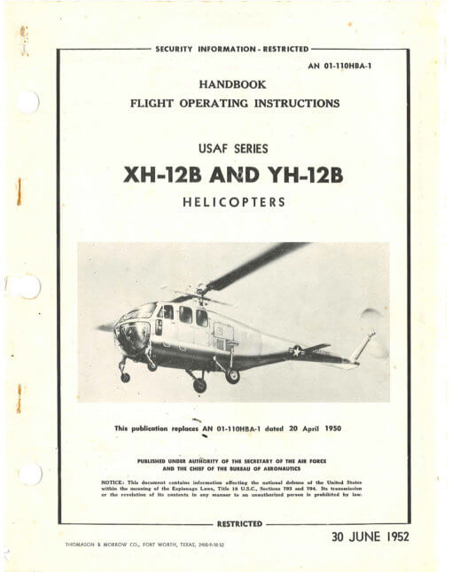 Flight Manual for the Bell Model 48 XH-12