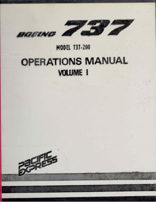 Flight Manual for the Boeing T-43A 737-200