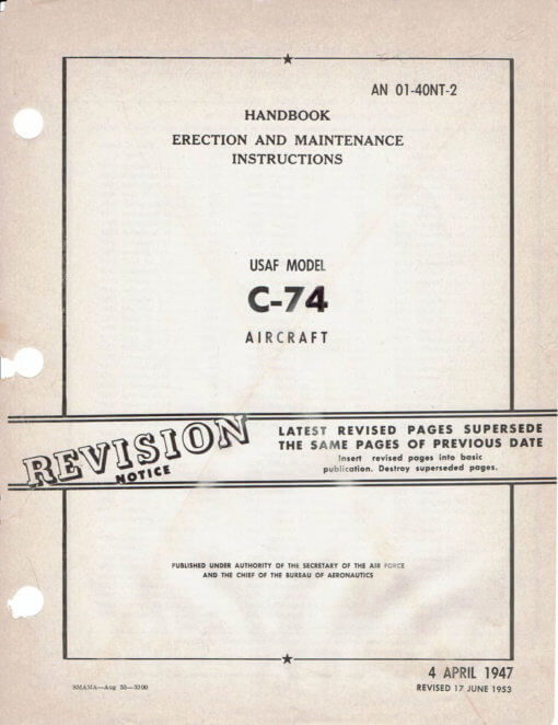 Flight Manual for the Douglas C-74 Globemaster I