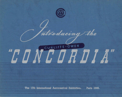 Flight Manual for the Cunliffe-Owen Concordia