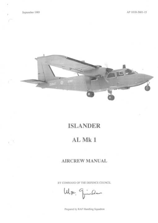 Flight Manual for the Britten-Norman Islander