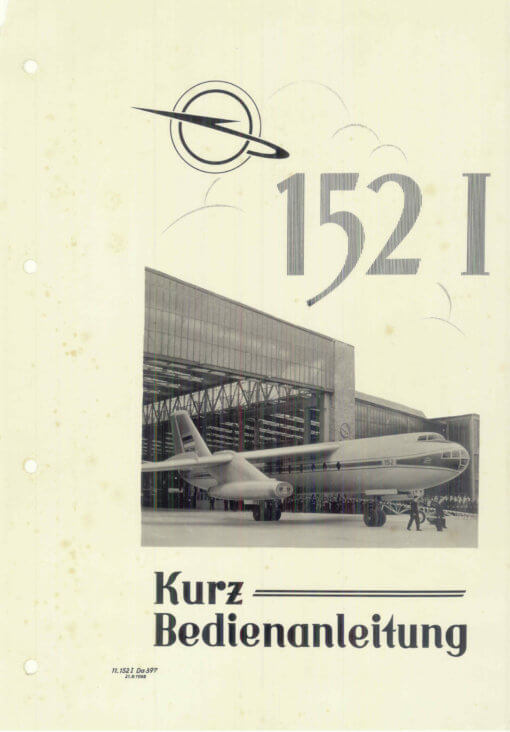 Flight Manual for the VEB 152 Baade