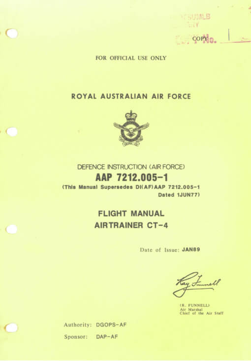 Flight Manual for the CT/4 Airtrainer
