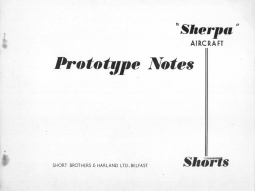 Flight Manual for the Short SB4 Sherpa