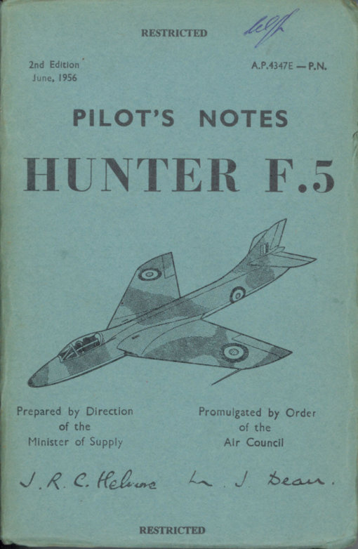 Flight Manual for the Hawker Hunter