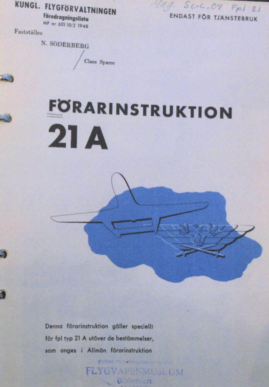 Flight Manual for the Saab J21