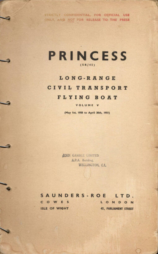 Flight Manual for the SARO Princess