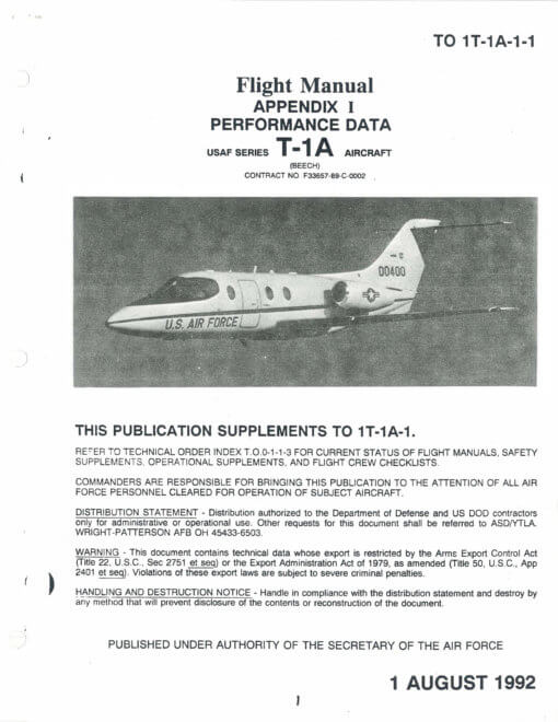 Flight Manual for the Beechcraft T-1A Jayhawk